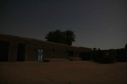 Blackout: the courtyard of our house lit by the moon and stars