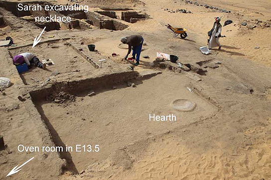 View over excavations in building E13.16