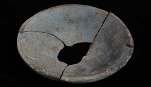Schist bowl found in building E13.16