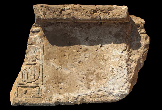 Sandstone lintel (F987) found in the house on Ernetta island.