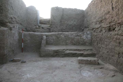 One end of the mastaba in house E13.7, built over by later architecture