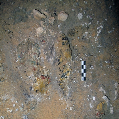Decorated coffin fragments in chamber G244.5