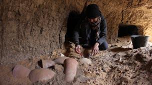 Excavating Grave 244