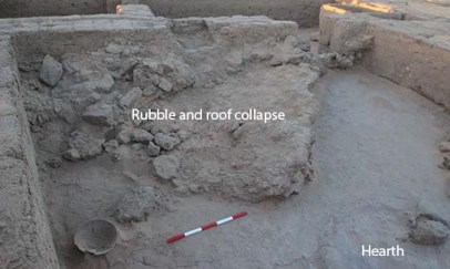Room 2 – collapsed roofing and brick rubble