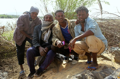 A team of the local young men helped the desert survey with Nubian music in the background: Moustafa, Hamada, Hashem and Nazil.