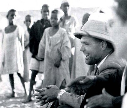 Peter Shinnie at Amara West in 1948-49. Courtesy of the Egypt Exploration Society
