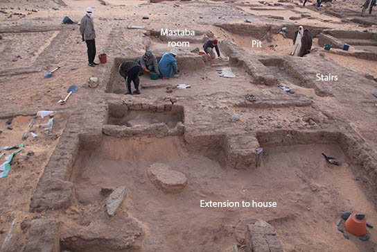Excavating in house D12.8