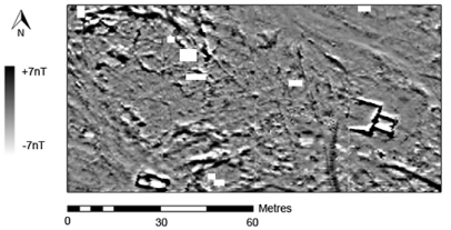 Geophysical survey showing location of G320 and G321 (in collaboration with the University of Southamption - British School in Rome)