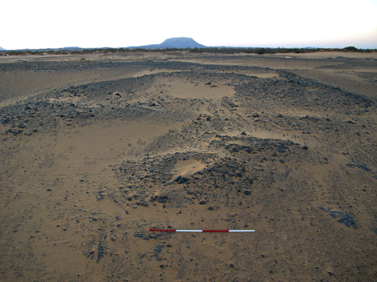 The somewhat unassuming heaps of rubble overlying G321, at dawn of the first day of excavation