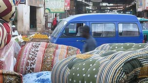 Mattresses in Omdurman market