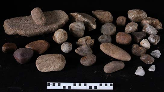 Stone tools found in house D11.2