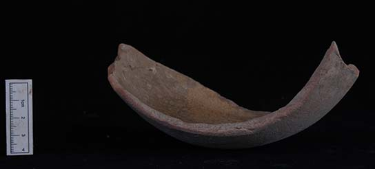 Sherd re-used as shovel