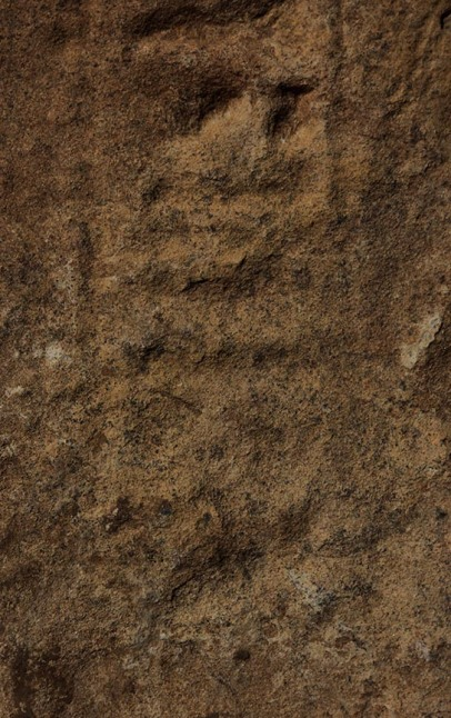 Detail of inscription from doorjamb found in G321: the title 'Deputy of Kush', followed by a badly eroded name.