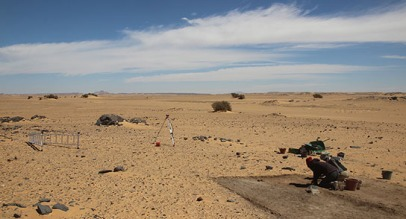 Excavation gets underway in 2015. Note the trees in the background which mark the line of the ancient palaeochannel