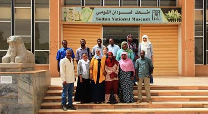 The participants of the workshop 2015 in front of the Sudan National Museum