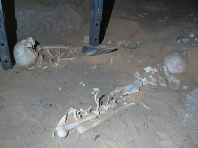Burials as found in the first chamber