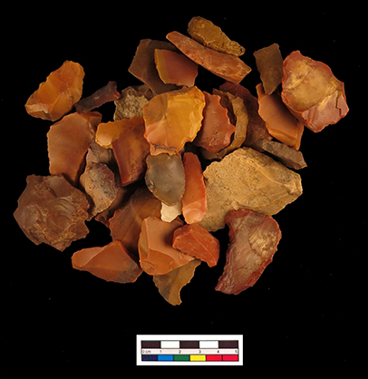 Selection of flints from Amara West, illustrating the range of colours