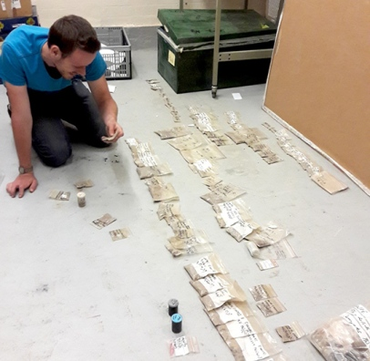 Maarten sorting samples by number and type