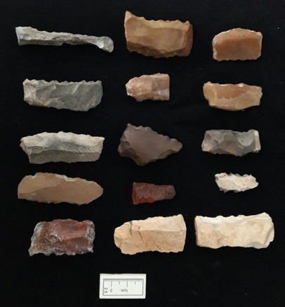 Flint tools made from local material