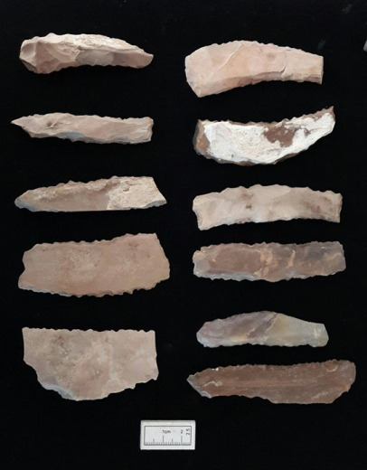 Flint tools made from non-local material